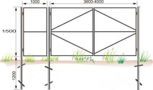 Столбы для забора должны располагаться друг от друга на расстоянии в 2 метра