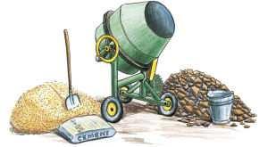 Набор для приготовления бетона