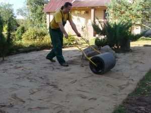 Создания песчано-гравийной подушки