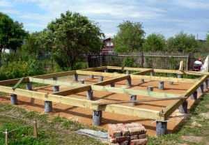 Столбчатый фундамент. фундамент для деревянного дома