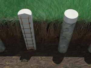 Фундамент из монолитных свай или буронабивной фундамент