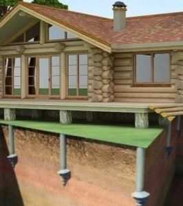 Свайно-винтовой фундамент для дома из бруса