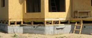 Ленточный фундамент для каркасного дома