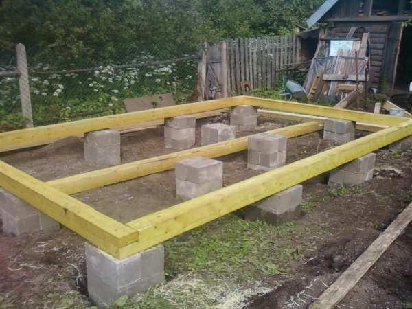 Фундамент для сарая на пучинистых грунтах