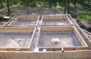 Готовая к бетонированию опалубка с подготовленной армировкой