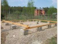 Мелкозаглубленный столбчатый фундамент