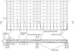 Чертеж-схема армирования монолитной плиты перекрытия