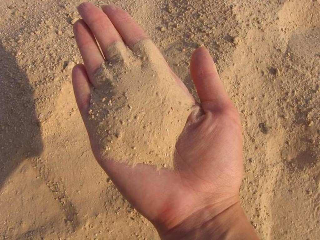 Песок для заливки фундамента