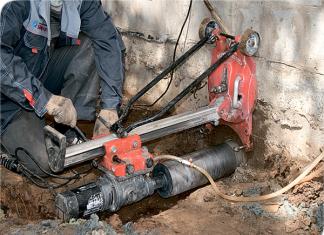 Вывод канализации из дома под фундаментом