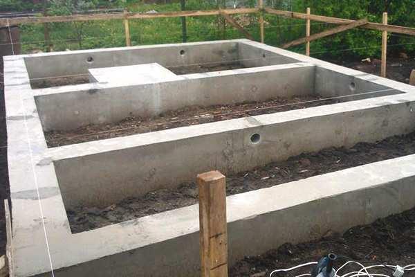Фундамент для бани из блоков своими руками