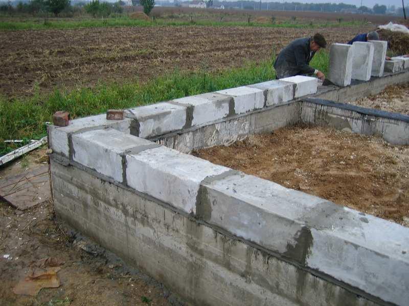 Глубина ленточного фундамента для дома из пеноблоков калькулятор по расчету ширины и высоты