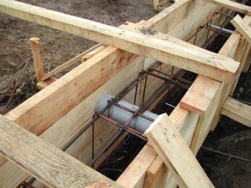 Подготовка к заливке фундамента бревенчатого дома
