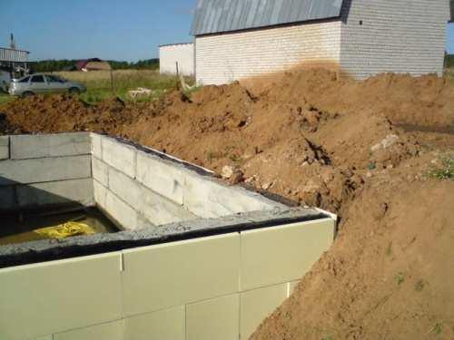 Нужно ли утеплять фундамент дома без подвала снаружи и внутри