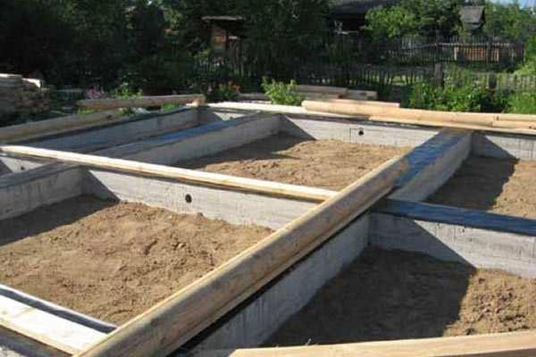 Ленточный фундамент для дома из бревна: устройство и ширина