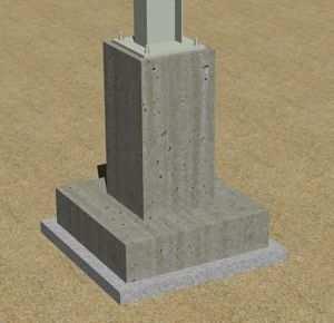 Эскиз обустройства фундамента под металлической колонной