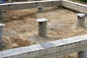 Общий вид готового буронабивного основания строения
