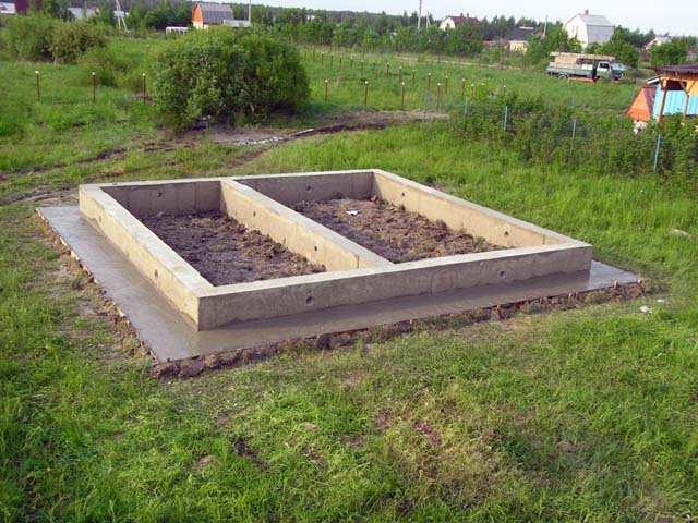 Ленточный фундамент: расчет материалов для бани на сваях