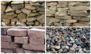 Применяемая для возведения ленточных оснований текстура камня