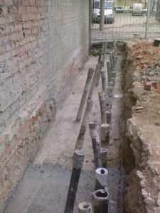 Принцип укрепления кирпичного здания торкретбетоном