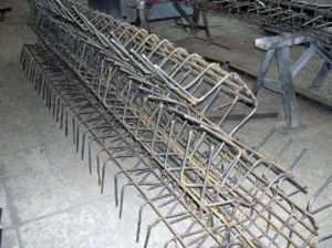 Изготовление арматурного каркаса для ленточного фундамента