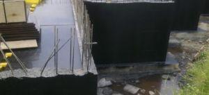 Нанесенная гидроизоляция на бетон основания дома