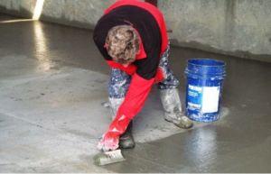 Покрытие фундаментной плиты проникающей гидроизоляцией