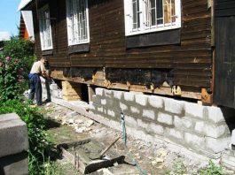 Как укрепить фундамент старого деревянного дома