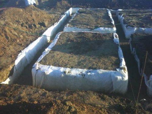 геотекстиль под ленточный фундамент