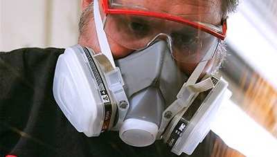 Средство защиты при гидроизоляции - респиратор