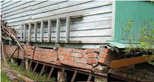Капитальный ремонт фундамента деревянного