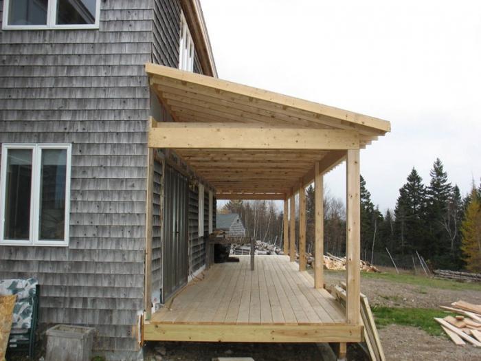 Проект веранды к деревянному дому своими руками
