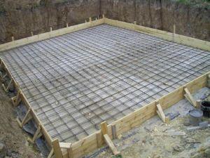 Фундамент для дома в виде монолитной плиты