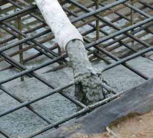 Заливка секции бетоном