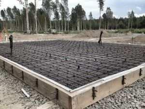 Армирование монолитного плитного фундамента