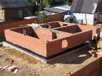 Ленточный фундамент для кирпичного дома