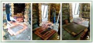Заливка фундамента под печь в баню