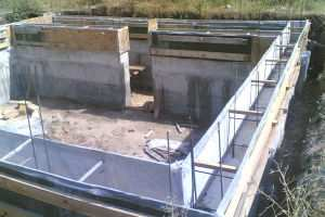 Фото фундамента под дом с цокольным этажом