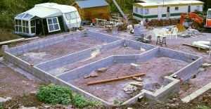 Строительство столбчато-ленточного фундамента