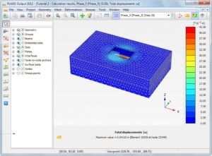 Скриншот процесса планировки в PLAXIS 3D