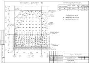 План свайно-плитного фундамента