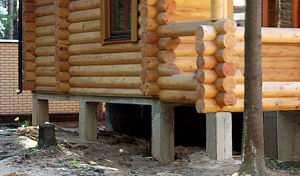Столбчатый фундамент дома из бетона