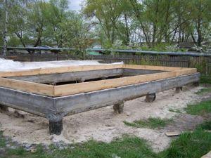 Столбчатый ленточный фундамент – это комбинированная фундаментная система