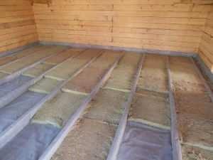 Утепление пола по лагам в деревянном доме