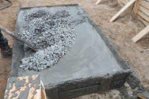 """Процесс """"замешивание"""" бетонной смеси"""