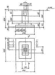 Схематическое изображение геометрических размеров колонн
