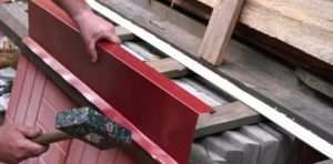 Изготовление металлического отлива для фундамента