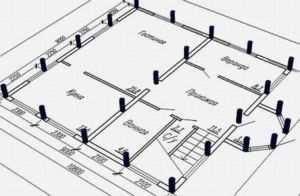 Определение расположения и количества свай фундамента дома