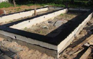 Готовая защита от влаги ленточного фундамента