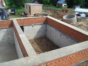Ленточный фундамент дома с подвалом
