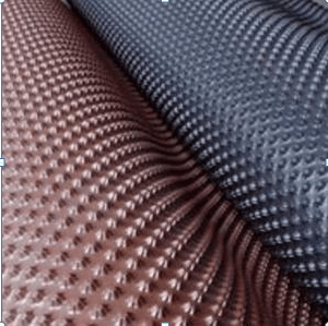 Вид профилированных изделий для гидроизоляции оснований зданий